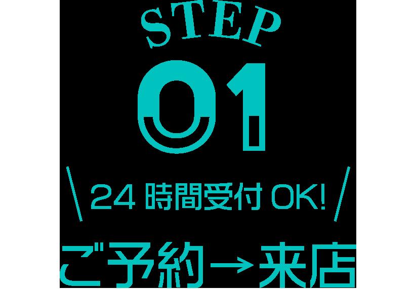 ご予約→来店